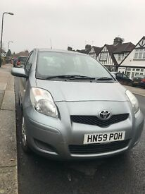 Toyota Yaris 2009 silver with long M.O.T, ECO Mode