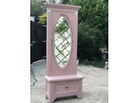 Large cheval mirror with drawer