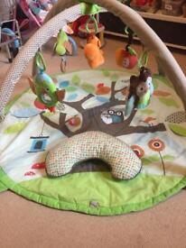 Skip hop treetop friends activity gym playmat
