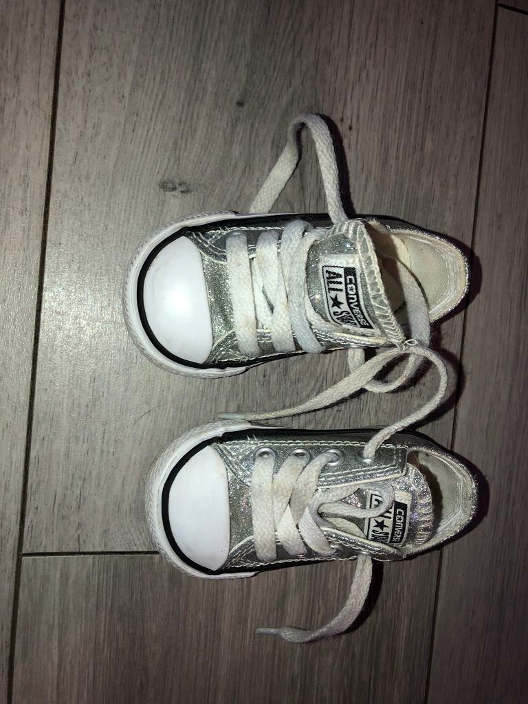 df39b37a5f0085 Silver converse size 3 baby