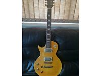 Left Handed Vintage Lemon Drop Les Paul Style Electric Guitar