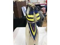 Old Tupton Ware Art Deco Tall Vase In Dress Pattern
