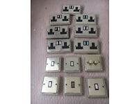Polished Brass 2 Gang Sockets and light switches