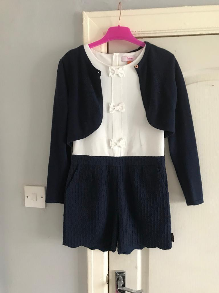 f1c014d1b TED BAKER OUTFIT SHORT JUMPSUIT AND CARDIGAN AGE 9-10 years
