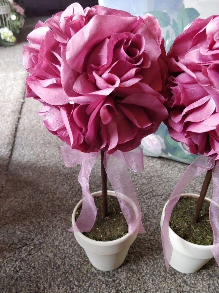 Wedding decor flower pot pink flower in redditch wedding decor flower pot pink flower mightylinksfo