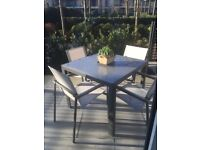 John Lewis 4 seater garden table and chairs