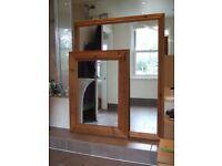 2 Very Large Stylish Framed Mirrors. 134 x 103cm & 99 x 73cm.