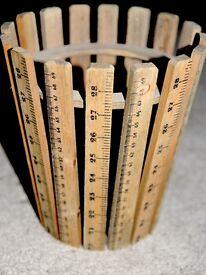 Wooden Ruler Wastepaper bin - brand new