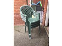 Plastic Garden Chairs (Green)