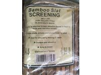 Bamboo Slat Screening (1.8m x 4m) - Two Rolls Available