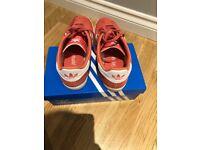 Pink suede Adidas gazelle size 5