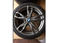 """Like new BMW Msport 140,18"""" 1 & 2 series alloy wheels with like new Michelin pilot super sport tyres"""