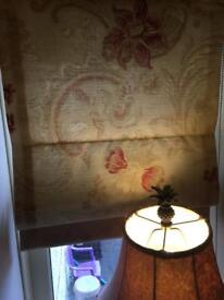 Laura Ashley curtains & Roman blind