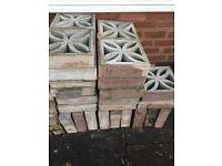 Floral screen walling bricks
