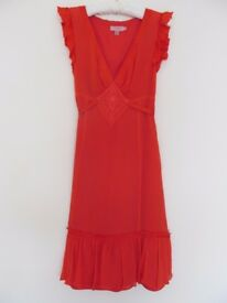 Never Worn TED BAKER Coral Dress. Mid Length. TED BAKER Size 1. UK Size 8.