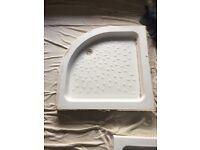 90cm x 90cm stone shower tray