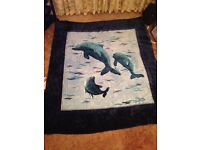 New condition. Large heavy soft mink throw