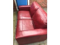 2 seater and 1 char leather in good condition