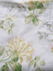 Laura Ashley honey suckle linen curtains