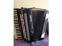 bai-le studio accordion 96 bass notes, no rips or tears, perfect working order. coll. stockport.