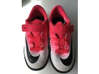 Kids Nike neon football boots size 10