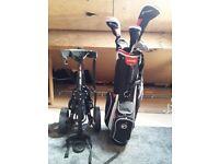 Package golf club set & trolley