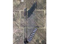 Wilson Golf Set - 9 irons, 2 woods, 1 putter and a Ping bag