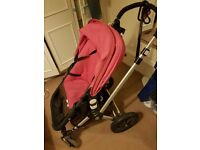 bugaboo cameleon 2 pram/Travel System Hot Pink (or blue) & Brown and cot bed & changing table &more