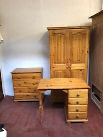 3 piece solid pine bedroom set