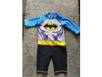 Boys Batman swim/sunsafe suit