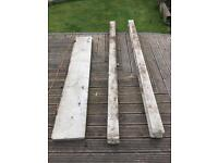 Concrete fence post and gravel board