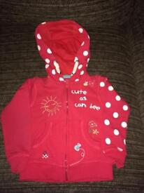 Lovely zip up hoodie Age 1.5 - 2 years