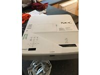 NEC U321H Projector (ceiling mounted). Needs new lamp to work