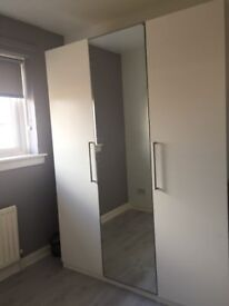 Modern wardrobe very spacious extra storage compartments inside excellent condition