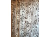 One pair of fully-lined curtains with eyelets, in excellent condition, only a few years old