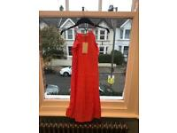 Mango Coral 100% Linen Dress - Size Small - brand new with tags