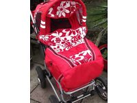 Red Multi Position Pushchair - Covers & Accessories - vgc