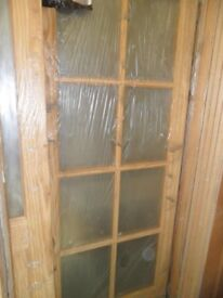 "8 Pane Bevelled Glass French Door 33"" X 78"""