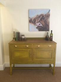 Buffet server sideboard cupboard cabinet chest of drawers storage antique old charm hall hallway