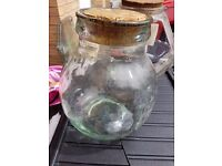 [LOVELY, CLASSIC] 3 x LARGE THICK GLASS JARS - PERFECT FOR KITCHEN STORAGE
