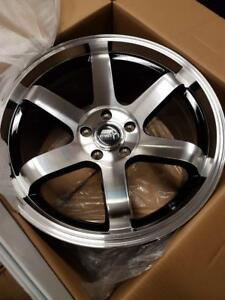 MST TE37 style 18x9.5 35 5x114.3 73.1 machined face with black, $800 for 4