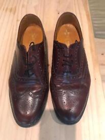 Men's size 11 brown brogue shoes
