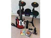 PS3 guitar and band hero