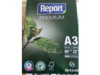 Suzano Report Multipurpose White Copier Paper A3 80gsm 500 Sheets