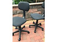 Gas Lift Height Adjustable Office Chair - Black x2 (2for £20)