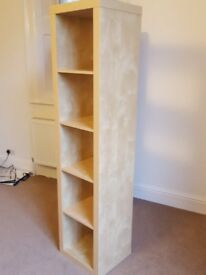 Tall bookshelf. Great looking.