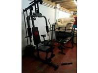 Multi gym, crosstrainer, weight bench