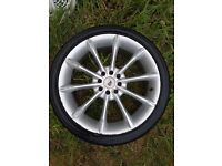 """Alloy Wheels with 17"""" good tyres"""