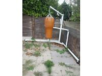 Punch bag and frame