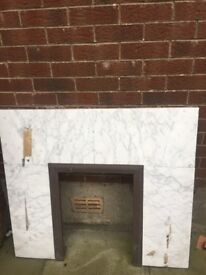 Fab Marble fire surround (also selling mahogany mantle piece)